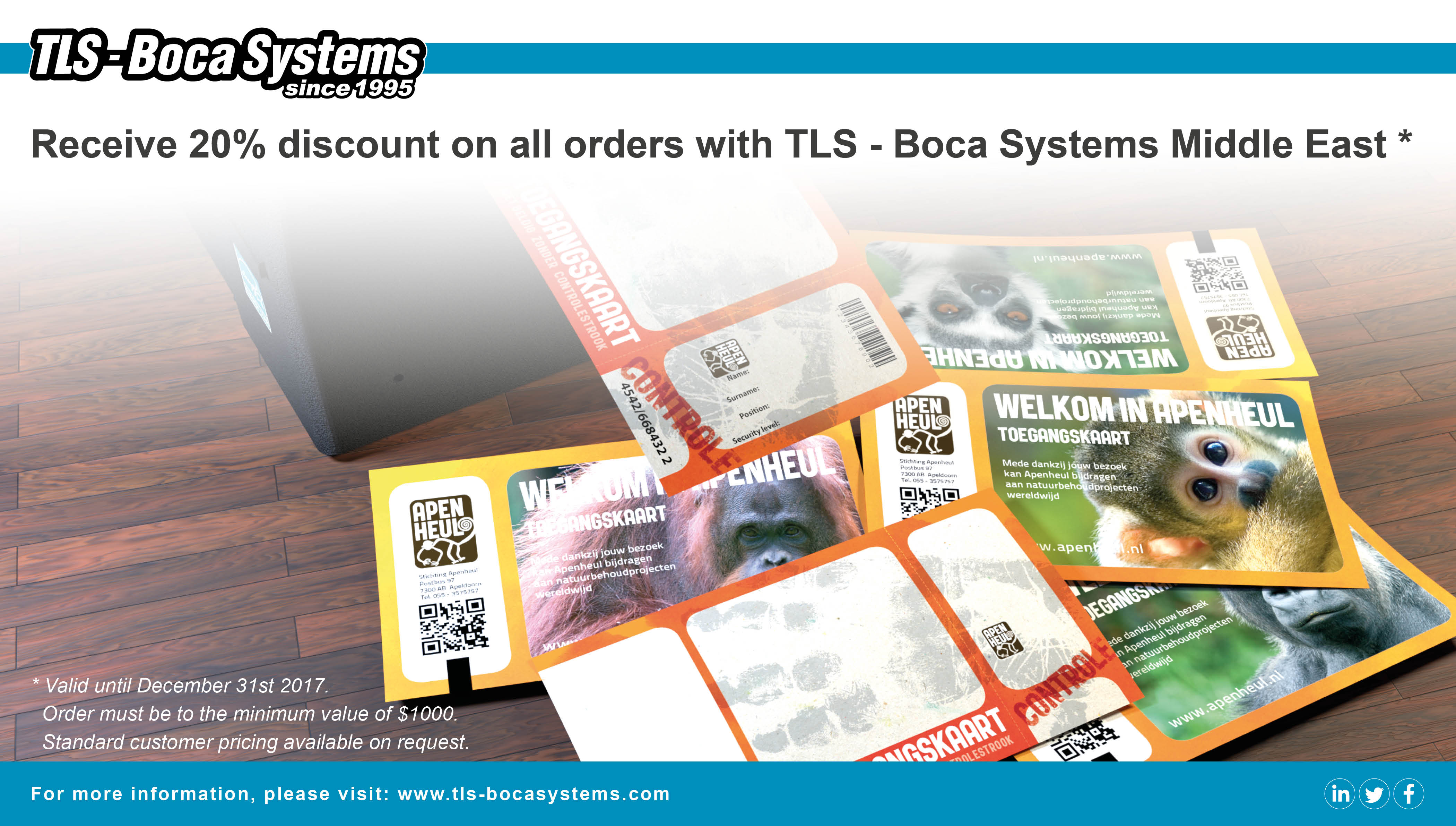 discount on all orders with TLS - Boca Systems Middle East