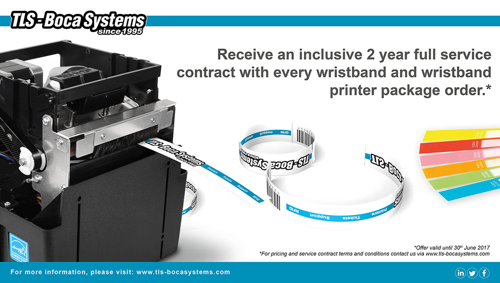 Receive an inclusive 2 year full service contract with every wristband and wristband printer package order.